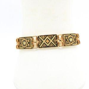 IA Vintage Gold Tone Damascene Bracelet